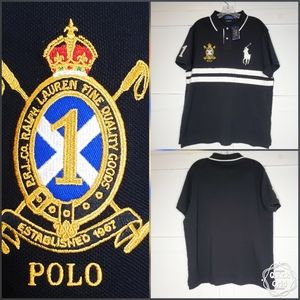 Polo Ralph Lauren Black Rugby Polo Shirt XL Pony